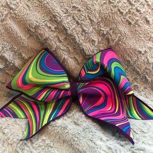 Rainbow all star cheer bow